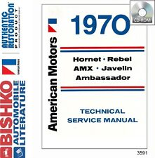 1970 AMC Hornet Rebel AMX Service Shop Repair Manual CD Engine Drivetrain Wiring