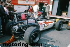 LOTUS 49 GRAHAM HILL TRANSPORTER HONDA RA302 PADDOCK BRITISH GP 1968 PHOTOGRAPH