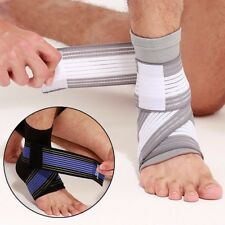 Ankle Sock Heel Compression Support Brace Sleeve Relief Pain Foot with Bandage
