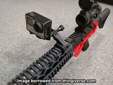 45 Degree Offset Picatinny GoPro Mount Airsoft Hunting M4 AR15 [3D Printed]