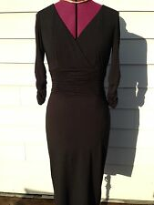 NUE by Shani Black 3/4 Sleeve Ruching Dress Sz 4  - NWT$210 - Body Architecture