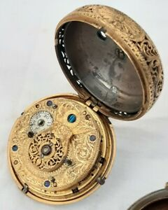 Repeater Pocket watch Paircase  *1700s* LONDON. Repair London English Cylinder
