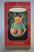 Hallmark - Granddaughter - Bear on Sled - Classic Keepsake Ornament