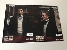 BRITISH HORROR CARD PROMO DTP1 DTP2 UNSTOPPABLE CARDS 2017 NUMBERED /50 SET OF 2