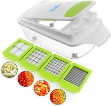 Vegetable Chopper Food Chopper Dicer Onion Chopper w/ Container  Cutter 4 Blades
