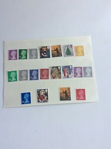 GB QE11 HIGHER VALUE STAMPS  NO GUM UNFRANKED OFF PAPER  AS PICTURES