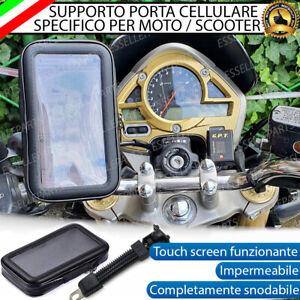 CUSTODIA SUPPORTO IMPERMEABILE MOTO SCOOTER PORTA CELLULARE SMARTPHONE