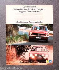 P738 - Advertising Pubblicità -1974- OPEL GM , ASCONA  SICURA IN VIAGGIO