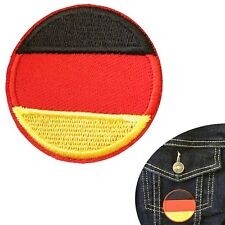 German Flag round iron on patch Germany Bundesflagge flags Deutschland patches