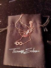GENUINE THOMAS SABO GLAM AND SOUL ROSE GOLD DIAMOND INFINITY NECKLACE