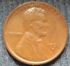 1931 S Lincoln Wheat Cent  - Lowest Mintage Rare Key Year Coin VG - Fine