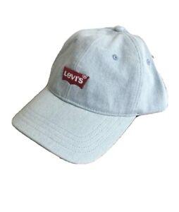 LEVI'S Baseball Cap Mens Embroidered Levis Hat Washed Denim Blue Sport Caps BNWT