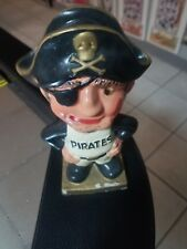 Old Baseball Figurine 1960's Sports Bobble Head Pittsburgh Pirates Mascot Toy