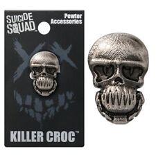 OFFICIAL DC COMICS - SUICIDE SQUAD KILLER CROC GREY LAPEL PIN BADGE (NEW)