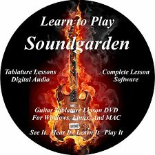 Soundgarden Guitar TAB Lesson Software CD, 75 Songs, 20 Backing Tracks!