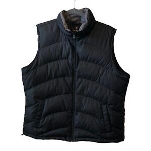 Lands End Women's Down Puffer Vest High Collar Size 18