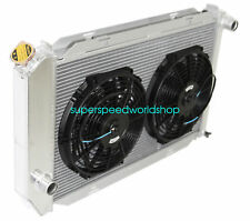 "Aluminum Racing 3 Row Radiator+12"" Fans fits for 71-73 Ford Mustang V8 MT ONLY"