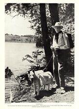 1930s Antique Dog Hiking Print Sled Dog Summer Eskimo Dog Trekking 3463-M