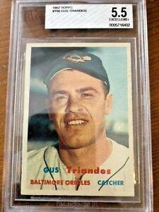 1957 Topps Baseball Card #156 Gus Triandos BVG 5.5