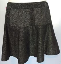 Candie's Black Glitter Skirt Elastic Waist Size Small New With tags