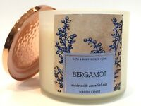 NEW 1 BATH & BODY WORKS HOME BERGAMOT 14.5 OZ LARGE SCENTED 3-WICK FILLED CANDLE