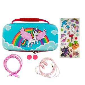 Nintendo Switch Lite 7-in-1 Accessory Kit - Over The Rainbow Unicorn