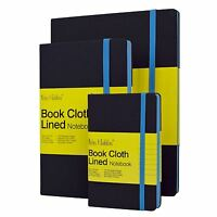 Notes & Dabbles Luna Lined Cloth Notebook With Expandable End Pocket