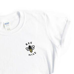 Womens Bee Nice Cute Top Bumblebee Pun Tshirt Gift Idea for Her Girls Tumblr Tee