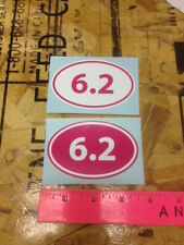 6.2 mile (10k) Run sticker decal Hot Pink - 2 for 1