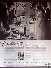 1939 vintage Ad 30's decor coffee set International Salt