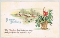 Vintage Christmas Good Luck Greetings Postcard