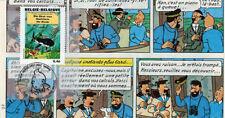"""FDC BELGIQUE """"100 ans Hergé - TINTIN Trésor de Rackham le Rouge"""" 2007 (TYPE 12)"""