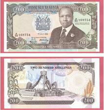 KENYA BILLET DE 200 SHILLINGS DU 1/07/1988 REF : KM 23Ac SPL