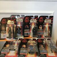 Hasbro Star Wars: Episode 1 Lot of 7 Comm-Tech Action Figures & Battle Bag