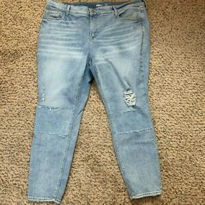 Old Navy Rockstar Ankle Jeans Womens Plus 24 Tall Blue Super Skinny High Rise