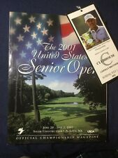2001 Golf US Senior Open Program And Clubhouse Ticket Salem Country Club