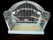 New listing Vintage - Crown Robin Egg Blue - Metal Birdcage Shabby Chic Chippy Art Deco