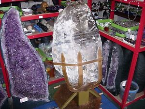 smokey huge quartz crystal massive formation ideal if you own a castle