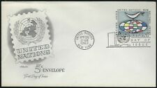 United Nations Fdc - 5 Cent Envelope - Artmaster Cachet - Nice!