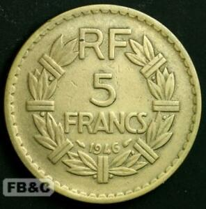 1946 France 5 Francs Coin - KM#888a
