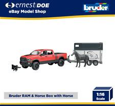 Bruder Toys 02501 Dodge Ram 2500 Power Pickup Truck with Horse + Horsebox 1:16