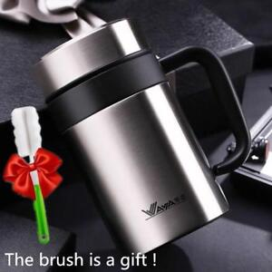 Thermos Mug Insulated Cup Mugs With Filter Water Bottle HandGrip Stainless Steel