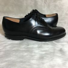 Hitchcock Wide Shoes For Men Black Leather Windsor Classic Oxford 13 5E