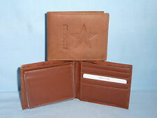 DALLAS COWBOYS   Leather BiFold Wallet   NEW  brown 4  sl