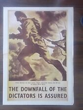 VINTAGE STYLE WWII PROPAGANDA POSTER - THE DOWNFALL OF THE DICTATORS IS ASSURED