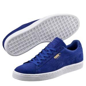Puma Suede Classic Debossed Q3 Mens Shoes Size 9 Blue 361097-01