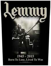 LEMMY Backpatch BORN TO LOSE - LIVED TO WIN Motörhead Rückenaufnäher - Motorhead