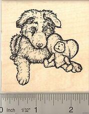 Australian Shepherd puppy Rubber Stamp J50001 WM dog