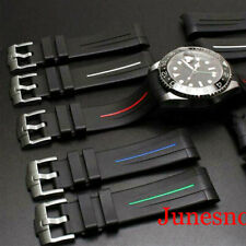 20mm Watch Rubber Strap Band CURVED ENDS Fit 40mm Men Watch