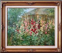 "Hand painted Oil painting original Art Landscape Flower on canvas 24""x30"""